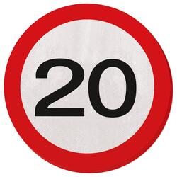 20 Jahre Servietten Traffic Sign