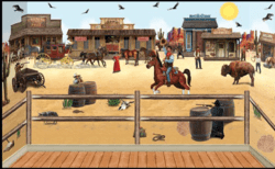 Wild West Wandkulisse Thema