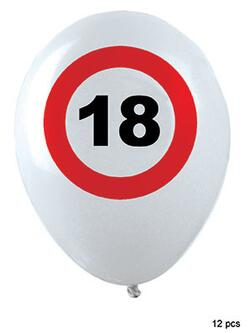 Ballon 18 Jahre Traffic Sign