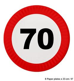 Papp Teller 70 Jahre Traffic Sign