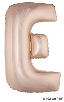 "Folienballon Buchstab ""E"" Rose Gold 1 Meter"