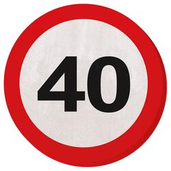 Servietten Traffic Sign 40