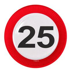 Papp Teller 25 Jahre Traffic Sign