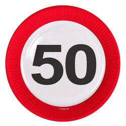 Papp Teller 50 Jahre Traffic Sign