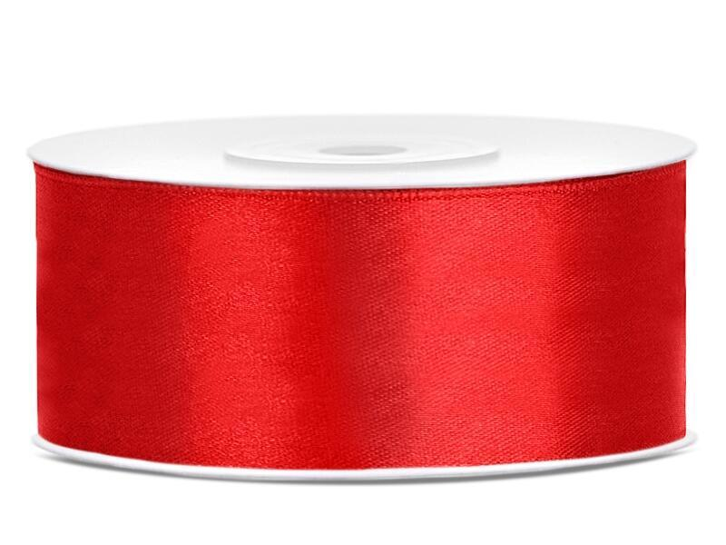 Satinband 25 mm Rot
