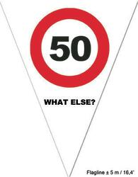 Wimpelkette 50 Jahre Traffic Sign