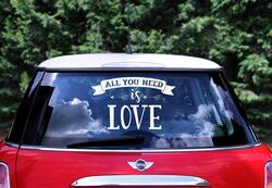 Sticker Hochzeitsauto All you need is Love