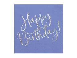 Servietten Navy Blau Happy Birthday