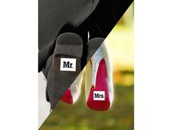 "Schuh Aufkleber ""Mr"" and ""Mrs"""