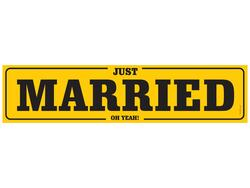 Nummernschild Just Married - oh Year