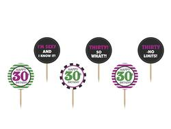 Cupcake Topper 30 Jahre