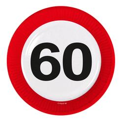 Papp Teller 60 Jahre Traffic Sign